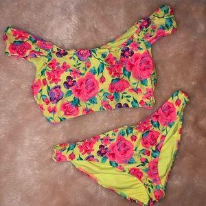 Floral Off the Shoulder Bikini